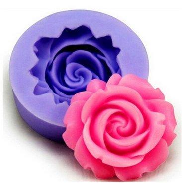 Molde de silicona para tartas con diseño de flores de pasta de...