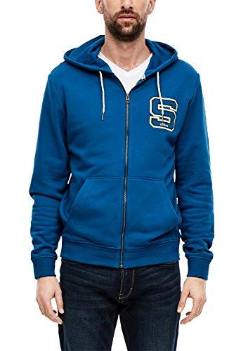 s.Oliver Herren 13.001.43.5867 Sweatjacke, Blue, X-Large (Herstellergröße: XL)