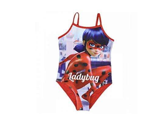 Miraculous Ladybug Badeanzug (134/140, rot)