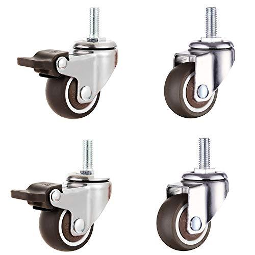 Magiin 4 Stück Lenkrollen für Möbel Transportrollen Schwenkrollen Strandkorbrollen für kleine Geräte und kleine Möbel (M8)