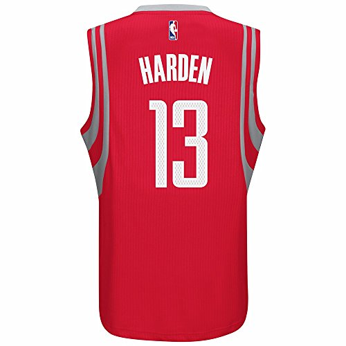 adidas James Harden Houston Rockets NBA Men's Red 2016-17 Climacool Swingman Jersey (XL)