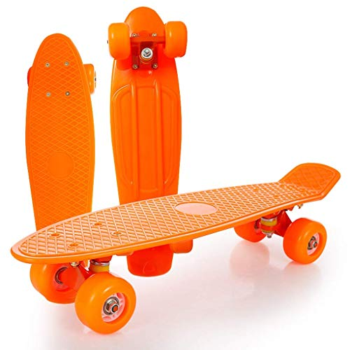 8bayfa Skateboard 22 inch Complete Mini Cruiser Retro Skateboard, Polyurethaan Wielen en ABEC-11 Lagers met All-in-One Skate voor beginners Universal Highway Street Scooter