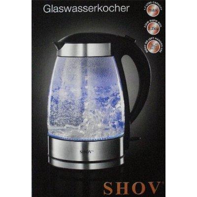 Design Luxus LED Wasserkocher aus Glas 1,7L, 2200W
