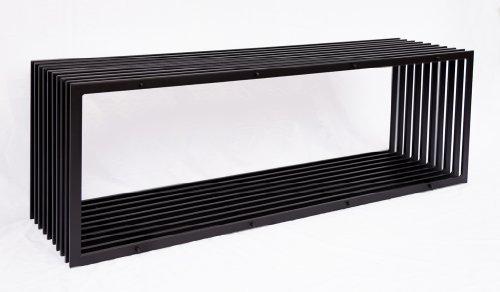 DanDiBo Bank D-Stil 150 cm Modern Gartenbank 10103 Sitzbank aus Metall Eisen Blumenbank - 3