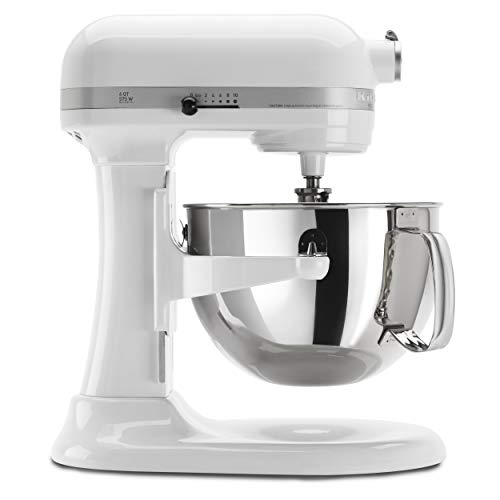 KitchenAid KP26M1XWH 6 Qt. Professional 600 Series Bowl-Lift Stand Mixer – White