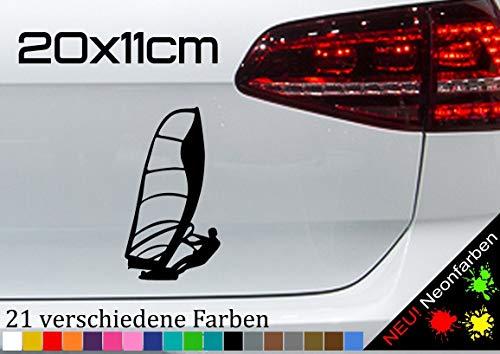 Pegatina para tabla de surf de windsurf, deportes acuáticos, surf, 20 x 11 cm, en 21 colores