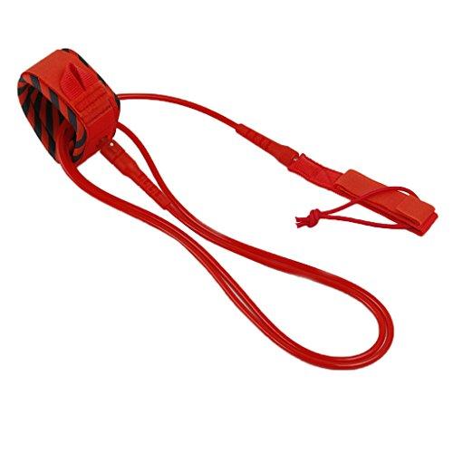 Homyl Surf - Correa de máxima resistencia, para surf, accesorios – Rojo 8 pies