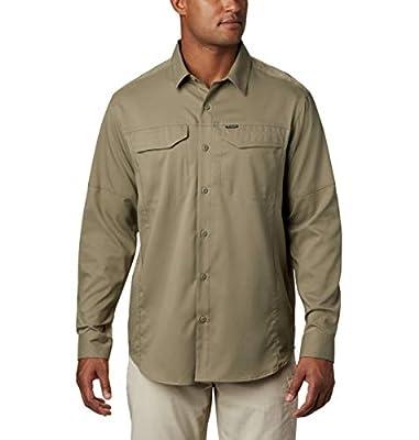 Columbia Men's Silver Ridge Lite Long Sleeve Wicking Shirt, Sage, Large