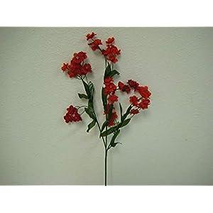 18″ Bouquet 12 Sprays Red Gypsophila Baby Breath Filler Artificial Silk Flowers LivePlant