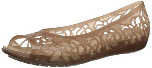 crocs Women's IsabellaJlyFltW, Bronze, 5 M US