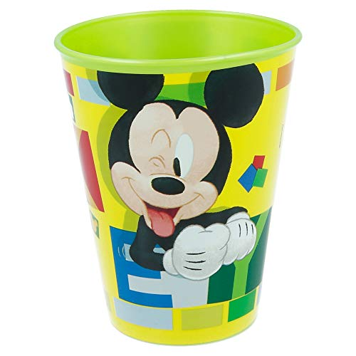 Mickey Mouse 895278 – Bicchiere in plastica, 260 ml, 10 x 7