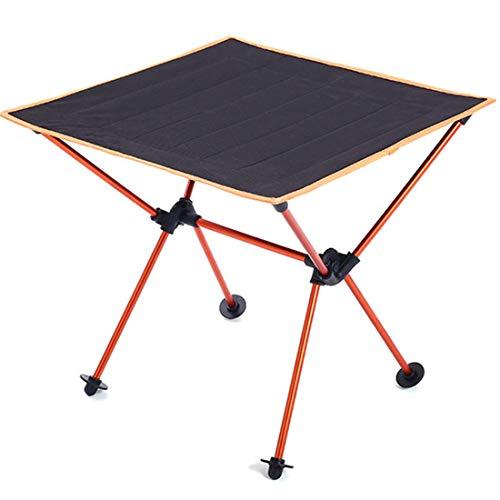 CaoXc1 Camping al Aire Libre Luz Portátil Mesa Plegable de Tela Oxford Aluminio de la aviación Mesa de Picnic Barbacoa (Color : Orange)