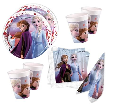Disney Frozen 2 - Set de fiesta para 8 invitados (36 piezas)