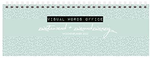 Tischquerkalender Visual Words Office 2022: 1 Woche 2 Seiten; Bürokalender mit viel Platz für Notizen; Format: 29,8 x 10,5 cm