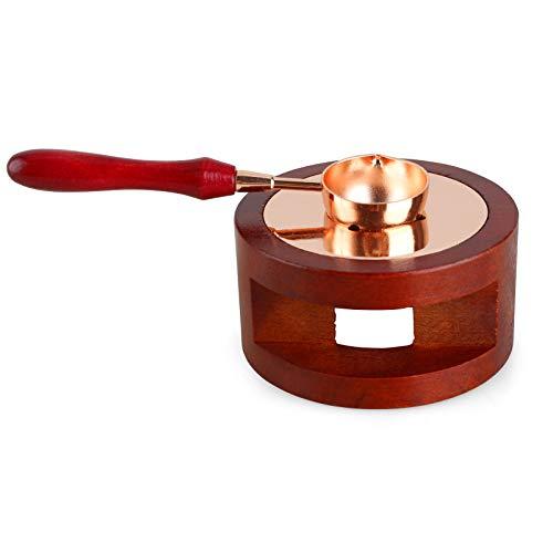 Gobesty - Kit de cera para horno de fusión, 1 olla de cera y 1 cuchara para manualidades sello de cera y tarjeta de felicitación