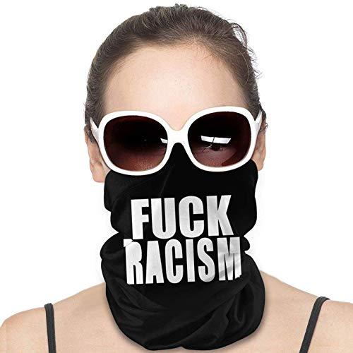 OUSHENGMAOYI A La Mierda El Racismo Pañuelo para La Cabeza,Sombreros Sin Costuras,Bufanda De Tubo Multifuncional,Paño De Manguera,Calentador De Cuello De Invierno