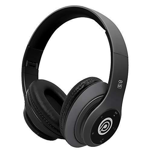 Kabellose Bluetooth Kopfhörer, HiFi Stereo Kabellos Kopfhörer mit Mikrofon und Faltbares Over Ear Wireless Headphone, Unterstützt die Micro SD/TF FM (für iPhone/Samsung/iPad/PC)(Grau)