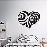 Art design pas cher vinyle décoration de la maison fleur coeur autocollant mural...