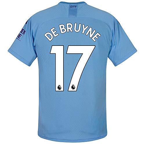 PUMA Man City Home De Bruyne 17 Jersey 2019-2020 (Official Premier League Printing) - M