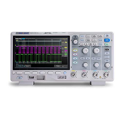 SIGLENT Serie SDS1000X-U Osciloscopio Digital, 4 Canal, 100 MHz Ancho de banda, 14 Mpts Profundidad de Memoria, 7