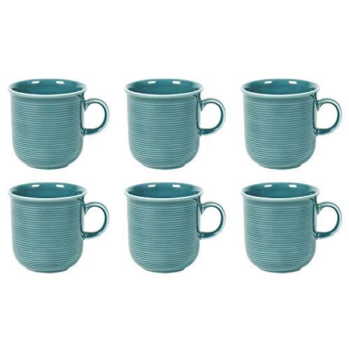 Thomas Trend Colour Kaffeebecher mit Henkel 280 ml, Porzellan, Ice Blue (6 Stück)