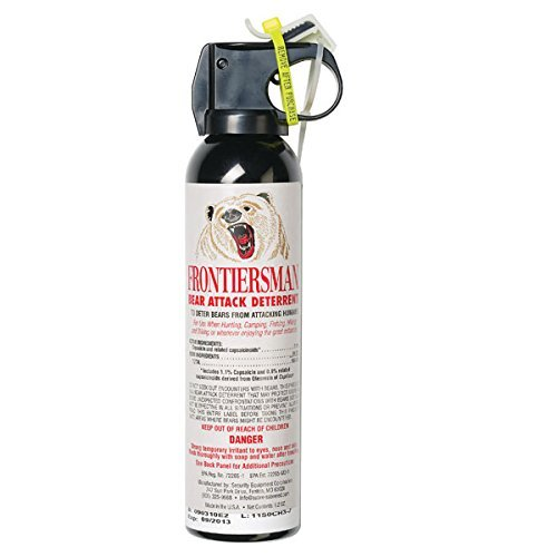 SABRE Frontiersman Bear Spray 9.2 oz (Holster Options & Multi-Pack Options) — Maximum Strength, Maximum Range & Greatest Protective Barrier Per Burst! — Effective Against All Types of Bears, 9.2 oz Canister