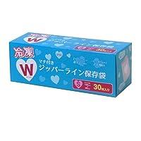 コーナンオリジナル 冷凍ダブルジッパー ラインマチ付保存袋S 30枚入 KFY05-1197