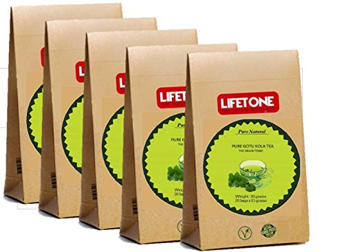 lifetone the tea for better life Gotu kola Tee | 100% natürlich aus dem tropischen Ursprung | 100 koffeinfreie Teebeutel
