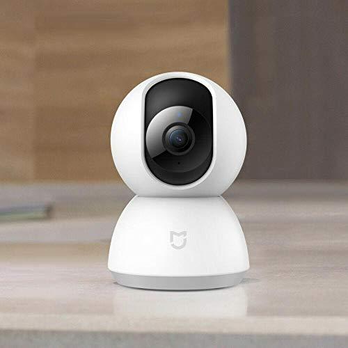 Xiaomi Mi Home Security Camera 360° 1080P WLAN Überwachungskamera (1080p-Auflösung, Linsenschwenkung- und neigung, 2-Wege-Audio, rauschreduzierte Nachtsicht, optimierte Personenerkennung, Mi Home App)