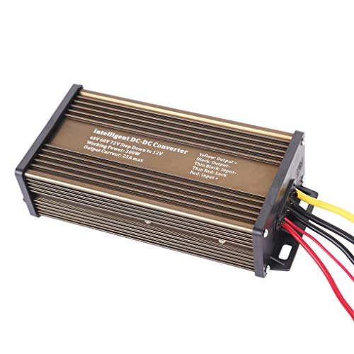 Pro Chaser DC-DC 120V 108V 96V 84V 72V 60V 48V Volt Voltage to 12V Step Down Voltage Reducer Regulator 180W 15A for Scooters & Bicycles Golf cart (25A 300W)