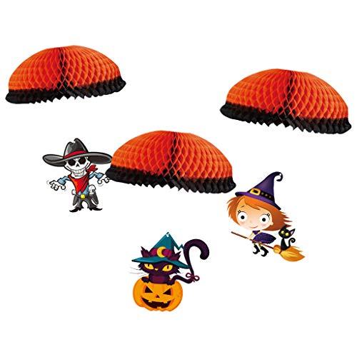 Xuebai Halloween Fallschirm Papier Anhänger Halloween Party Paket Fallschirm Anhänger Halloween Anhänger