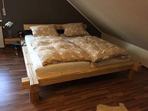 """Bett aus Altholz Balkenbett Massiv """"Rom"""" Schlafzimmermöbel"""