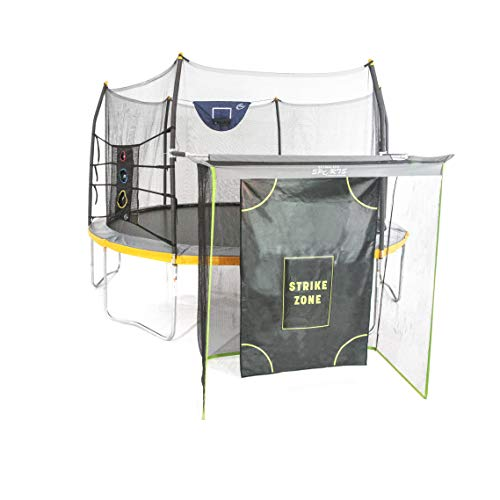 Skywalker Trampolines 14' Round Trampoline w/game combo -Gray and Yellow
