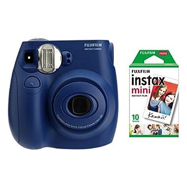 Fujifilm Instax Mini 7s Indigo + 10 Exposures Instant Film Camera