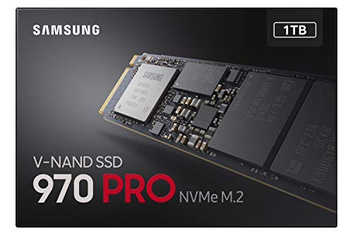 Samsung 970 PRO 1 TB PCIe 3.0 (bis zu 3.500 MB/s) NVMe M.2 Internes Solid State Drive (SSD) (MZ-V7P1T0BW)