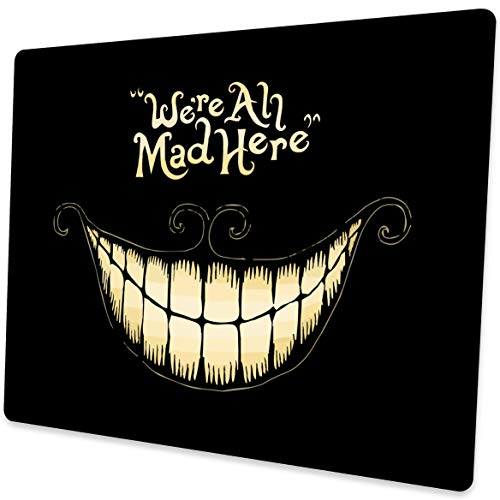 Shalysong Mouse Pad We're All Mad Here Personalized Design Square Mouse Pads for Computers