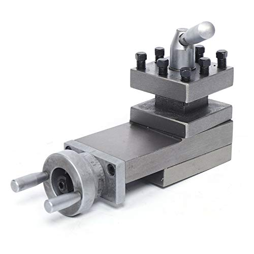 """CNCEST 7.09"""" Swing Lathe Tool Holder Bench Lathe Metric Tool,Slide Compound Lathe Tool Holder 90mm Stroke WM180V For Lathe Parts Cast Iron Material"""