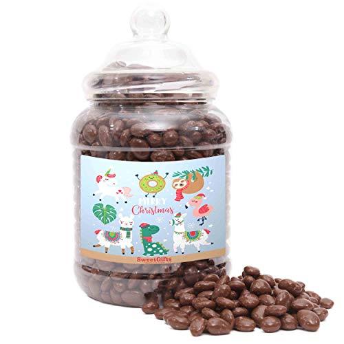 Kerst Sweets Potten - Chocolade Smaak Rozijnen - Kerst Dieren Label - Grote Potje - 1850gram