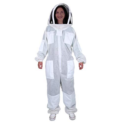 ENJOHOS Imkerei Anzug Schutzbekleidung mit Schleier Bienenzucht Werkzeuge Zubehör Imkerei Ausrüstung für Mann Frauen (XL)