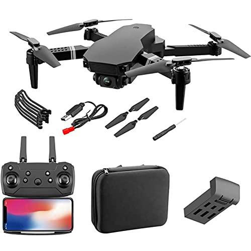 Dron WiFi con cámara 4K HD, cuadricóptero RC con retención de altitud, función de sensor de gravedad, despegue / aterrizaje con una tecla, dron plegable con foto de gestos, video, control de aplicacio
