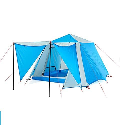 Zzaoxin Tiendas de campaña Azul Y Blanco Al Aire Libre 4 Personas 5 Personas 6 Personas Una Habitación Dos Salas Multi-persona Rain Park Rocío Camping Tienda Automática Salvaje Supervivencia Montañism