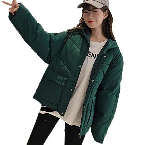 Babao dames winterjas met capuchon lange jas outwear gewatteerde warme jas