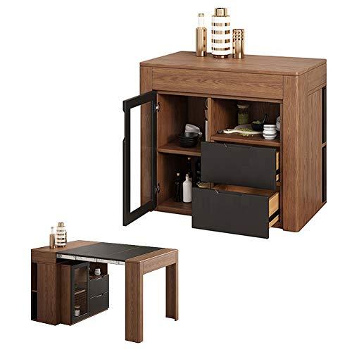 RJMOLU Mesa de Centro de Madera Extensible Conjuntos de cajonero de Almacenamiento, Mesa de Comedor Ajustable de Muebles para el hogar, Espacio ahorrando Muebles Cuadrados Modernos