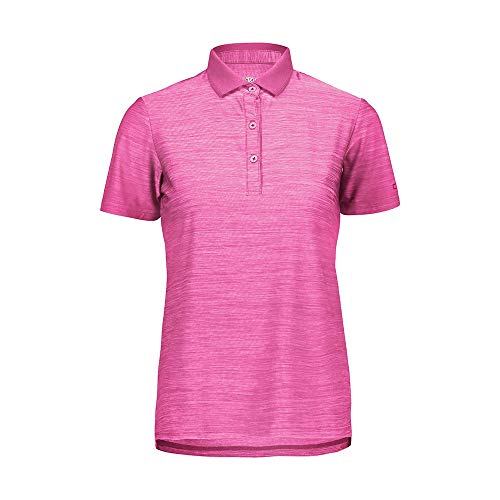 CMP Damen Polo Stretch Jersey Polohemd, Bouganville Mel, 42