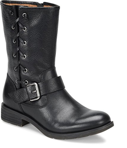 Sofft Womens Belmont Leather Round Toe Mid-Calf Fashion Boots, Black, Size 7.5