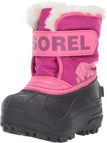 Sorel - Youth Snow Commander Snow Boots for Kids, Tropic Pink, Deep Blush, 12 M US