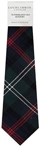 I Luv Ltd Gents Neck Tie Sutherland Old Modern Tartan Lightweight Scottish Clan Tie