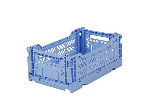 Scatola pieghevole Ay-Kasa, stabile scatola pieghevole in plastica, impilabile, mini (27x17x11cm),...