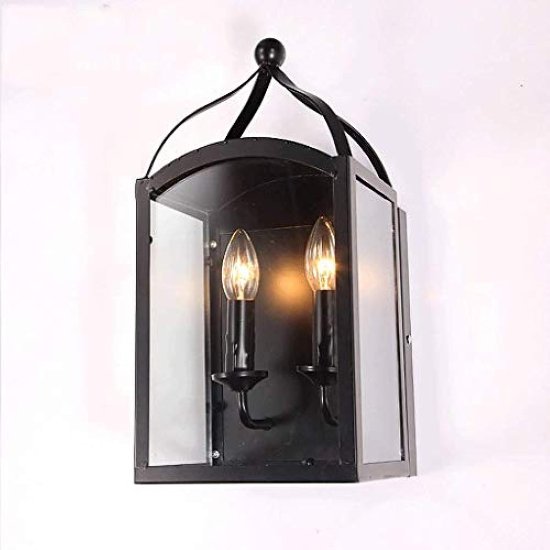 Beleuchtungsknopfleuchter Vintage Industry Indoor Wohnzimmer Doppel Schwarz Wandleuchte Wandleuchten Leuchten Beleuchtung