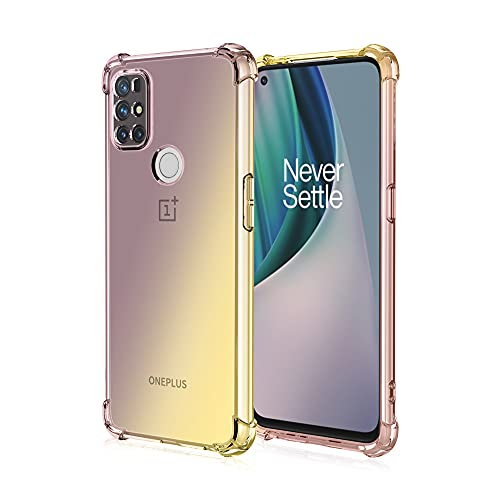 """Case for Oneplus Nord N200 5G Case with Screen Protector,Clear Shockproof Oneplus Nord N200 Case for Women Girl Heavy Duty Drop-Proof Cover Silicone TPU Bumper Rugged Nord N200 5G Case 2021 6.49"""""""